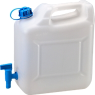 Water-jerrycan ECO, met kraan, 10 l, naturel