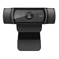Webcam Logitech HD C920 Full HD résolution 1080p, 2 microphones, photos éclatantes 15 Mpx