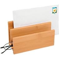 Wedo letter stand bamboe, 2 compartimenten, zeer stabiel
