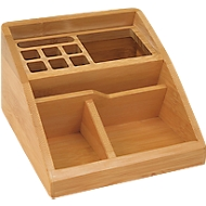 Wedo tafelorganisator bamboe, 3 vakken, 1 aluminium inlegstukje