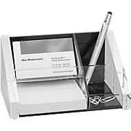 Wedo Tischorganizer, glasklares Acryl, 1 Stiftfach, 2 Sammel und 1 Notizzettelfach
