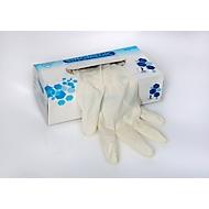 Wegwerphandschoenen, latex, gepoederd, maat M, tweehandig, ISO-norm, niet-steriel, wit, pak van 100 st.