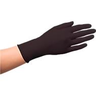 Wegwerphandschoenen, latex, poedervrij, zwart, 100 stuks, maat L