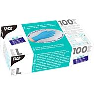 Wegwerphandschoenen, nitril, poedervrij, blauw, 100 stuks, maat L