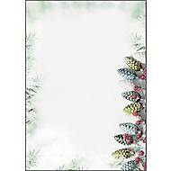 Weihnachts-Motivpapier Sigel Christmas Garland, A4, 90 g/m², Tannenzapfenmotiv, 100 Blatt