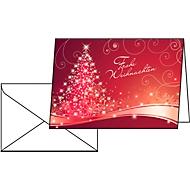 Weihnachtskarten Christmas Swing, Glanzkarton, inklusive Umschlag, 25 Stück