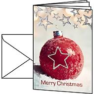 Weihnachtskarten Sigel Christmas Bauble, A6, 220 g/m², Edelkarton mit Christbaumkugelmotiv, Einlage/Umschläge, 10 St.