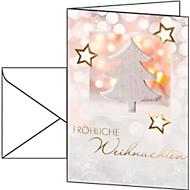 Weihnachtskarten Sigel Glowing Christmas Tree, A6, 220 g/m², inkl. weißen Umschlägen, 10 Stück