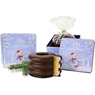Weihnachtspräsent Baumkuchen in Weihnachtsdose, 300 g