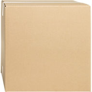 Wellpapp-Faltkartons, 1-wellig, 150 x 150 x 150 mm, braun