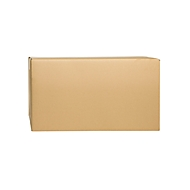 Wellpapp-Faltkartons, 2-wellig, 610 x 320 x 335 mm, braun