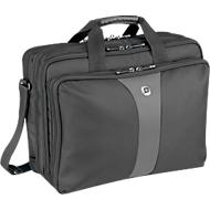 WENGER® Laptoptas Legacy, voor 17 inch laptops, 3 zakken, schouderband en een 17 inch laptop.