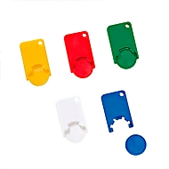 Werbe-Set Einkaufswagenchips, 400-tlg., farblich sortiert - inkl. Druck
