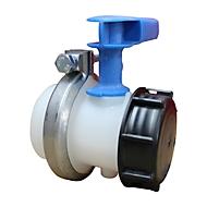 WERIT reservekraan voor IBC-tanks, met verwisselbaar ventiel