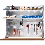 Werkbank-Aufbautensystem, Lochraster-Rückwandplatte