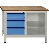Werkbank mit 1 Fachboden und 4 Schubladen