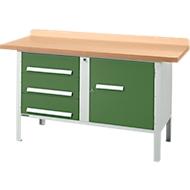 Werkbank PW 150-4, groen
