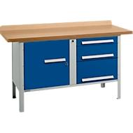 Werkbank PW 150-7, lichtgrijs/blauw