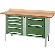 Werkbank PW 150-8, groen
