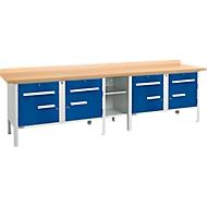 Werkbank PW 300-0, lichtgrijs/blauw, lichtgrijs/blauw