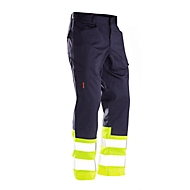 Werkbroek hoge zichtbaarheid Jobman 2314 PRACTICAL, Hi-Vis, EN ISO 20471 klasse 1, donkerblauw/geel, maat 48
