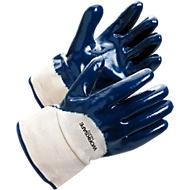 Werkhandschoenen Worksafe H40-455, EN388, nitril/katoen, bestand tegen vocht en olie, maat 10, 12 paar