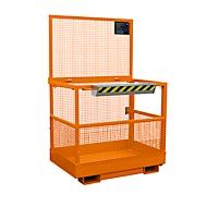Werkkooi Bauer MB-B, 2 Personen/300 kg, Op te heffen met hefwagen aan de brede zijde, oranje RAL 2000