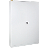 Werkplaatskast, B 1345 x D 520 mm, met schuiflade, lichtgrijs/lichtgrijs