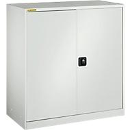 Werkplaatskast, met 1 tussenlegbord, met 2 schuifladen, B 1345 mm, lichtgrijs/lichtgrijs