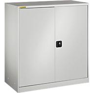 Werkplaatskast, met 2 tussenlegborden, B 1345 mm, lichtgrijs/lichtgrijs