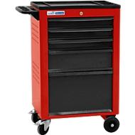 Werkplaatswagen BASIC, 5 schuifladen, rood