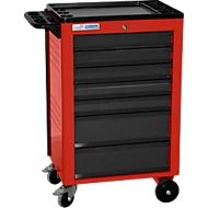 Werkplaatswagen BASIC, 7 schuifladen, rood
