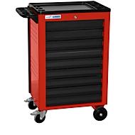 Werkplaatswagen BASIC, 9 schuifladen, rood