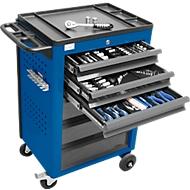 Werkplaatswagen BASIC incl. 115-delige gereedschapsset, blauw
