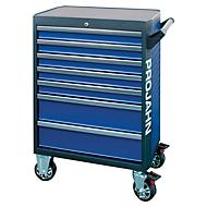 Werkplaatswagen PROJAHN GALAXY, plaatstaal, 7 schuifladen, tot 450 kg, afsluitbaar, blauw/antraciet