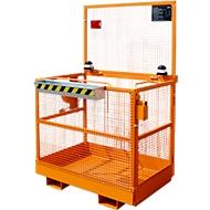 Werkplatform MB-ST/T, L 1115 x B 1200 x H 1890 mm, oranje RAL 2000