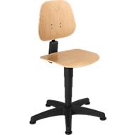 Werkstoel 9650, gelaagd beukenhout, glijders, naturel gelakt