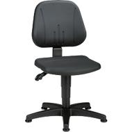Werkstoel 9650, integraalschuim, glijders, zwart