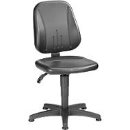 Werkstoel 9650, kunstleer, glijders, zwart