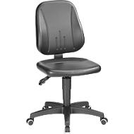 Werkstoel 9653, kunstleer, wielen, zwart