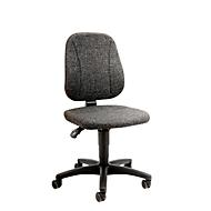 Werkstoel 9653, stoffen bekleding, wielen, antraciet