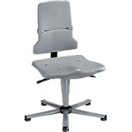 Werkstoel bimos SINTEC, synchroonmechanisme met gewichtsregulering, orthozitting, zonder armleuningen & bekleding, met glijders