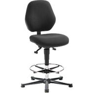 Werkstoel COUNTER Basic, glijders, antraciet