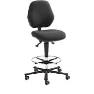 Werkstoel COUNTER Basic, zit-stop-wielen, antraciet