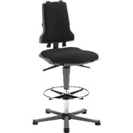 Werkstoel COUNTER Sintec, glijders, antraciet
