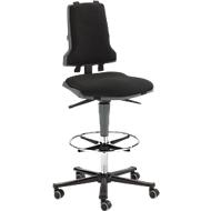 Werkstoel COUNTER Sintec, zit-stop-wielen, antraciet