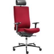 Werkstoel Dauphin TEC 24/7 adjust, met armleuningen, Syncro-Quickshift-Mechanic, chilirood