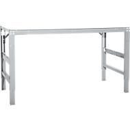 Werktafel Ergo, elektro-hydrauliek, blad melamine, 1000 x 800 mm, aluminium zilver