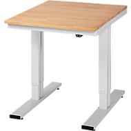 Werktisch Serie adlatus 300, Buche-Massiv-Platte, B 750 x T 1000 x H 720 - 1120 mm