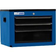 Werkzeugtruhe BASIC, H 450 x B 600 x T 440 mm, 3 Schubladen, blau